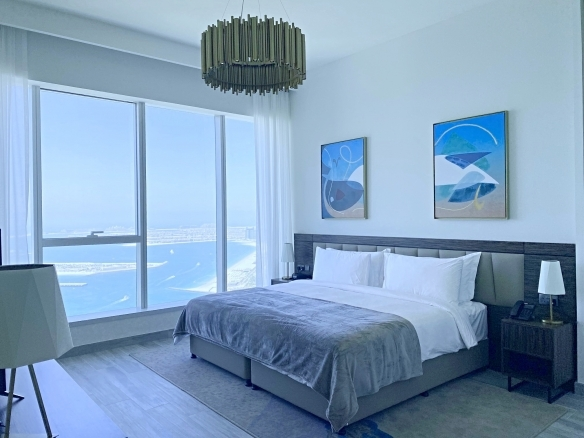 A brand new, very spacious and bright luxury 2-bed apartment offering an amazing view towards the sea.